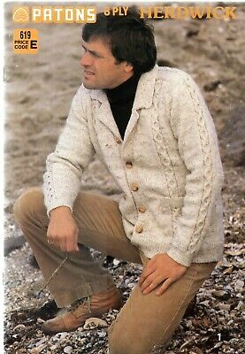 Patons Mens Knitting Patterns in 8ply Herdwick book 619