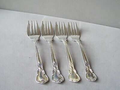 4  Chantilly by Gorham Sterling Silver  Salad Forks