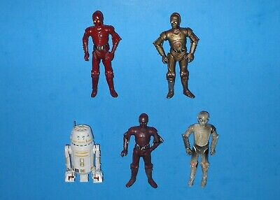 Star Wars Lot of 5 Figures C-3PO (Hasbro 2007) CZ-4 R-3PO Droid Factory TAC 30th