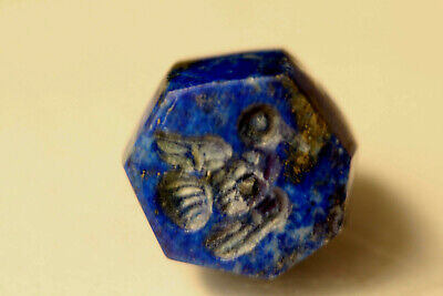 Ancient Carved flying bird 100% Natural Gemstone Egyptian Lapis Lazuli Intaglio