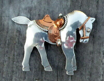 Native American Jewelry Sterling Silver Horse Pendant by Three Hogans Shop