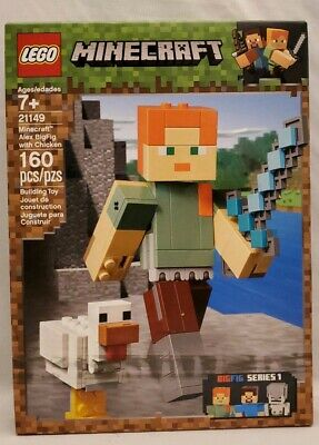 New LEGO Minecraft 21149 Alex W/ Chicken BigFig Series 1 160 Pcs FREE SHIPPING