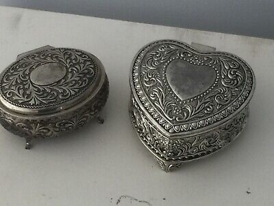 Vintage Silver Plated Jewellery Boxes/Trinkets
