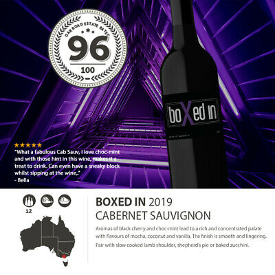 12 Bottles of 2019 Boxed In Cabernet Sauvignon