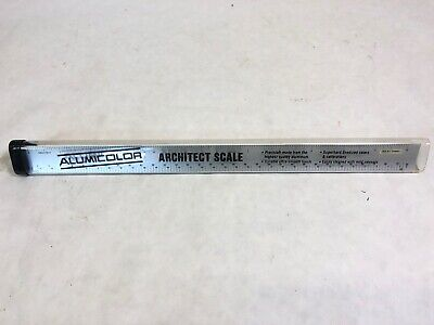 Vintage Aluminum Architects Scale Rule, Made by Alumicolor, Never Used
