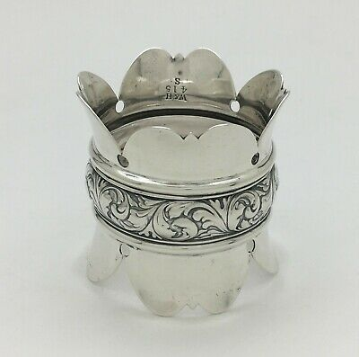 Fabulous Large Antique Wood & Hughes Sterling Silver Napkin Ring 415 S