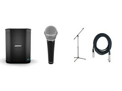 Bose S1 Pro Portable PA System With Microphone, Microphone Stand and Cable