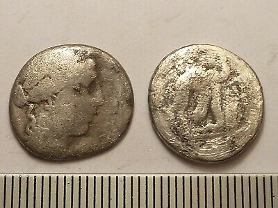 5107 Lot of 2 ancient Roman republican silver coins denarii 1st century BC