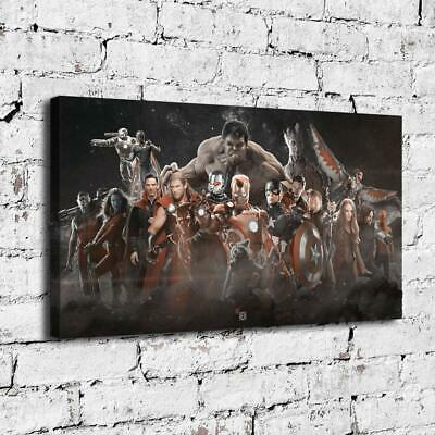 "12""x20""Avengers Superhero Paintings HD Print on Canvas Home Decor Room Wall Art"