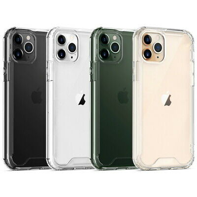 For iPhone 11 Pro Max XS XR X 8 7 6S Color Soft Bumper Case Hybrid Clear Cover
