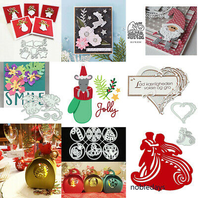 Christmas Decoration Metal Cutting Dies Craft Embossing Stencil Scrapbook Card