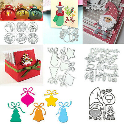 Christmas Metal Embossing Cutting Dies Stencil Scrapbook Paper Card Decoration