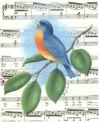 """Kerry Trout tole painting pattern """"Bird Song"""""""
