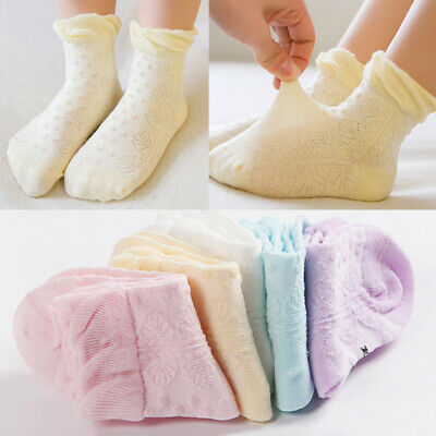 5Pairs Infant Baby Girl Boy Cotton Socks Soft Breathable Ankle Sock Hosiery 0-5Y