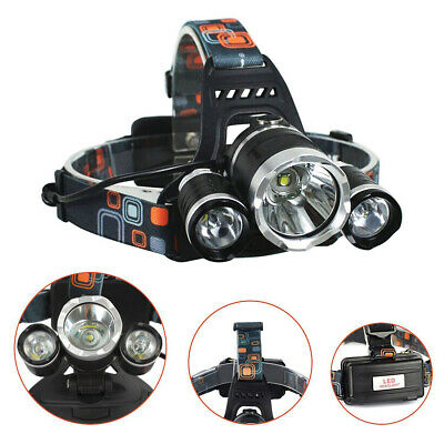 12000LM 3 x XML CREE T6 LED Lampe frontale rechargeable lampe frontale BKF