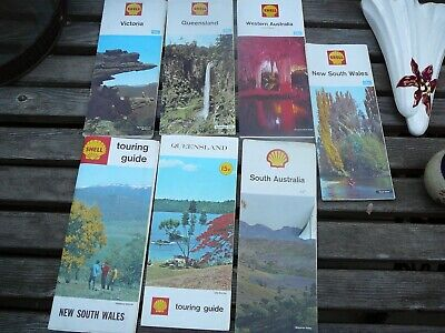 shell vintage maps x 7
