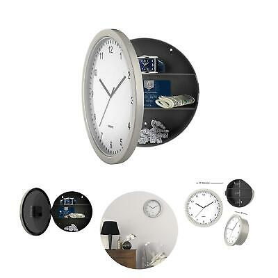 Clock Safe Hidden Wall Secret Jewelry Security Stash Box Money Cash Compartment