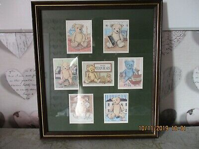 Teddy Bears Collection Cards in Glass Picture Frame