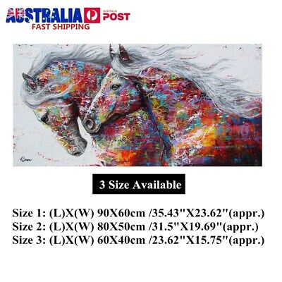 AU 90x60cm Running Horse Print Picture Unframed Canvas Painting Poster Wall Home