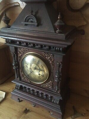 Bracket Clock, 8 Day, Lenzkirch 1 Million Movement, Gothic, Victorian