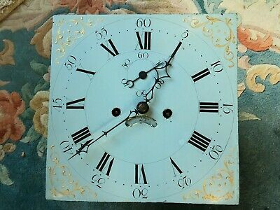 Painted dial Longcase clock dial/movement 8day
