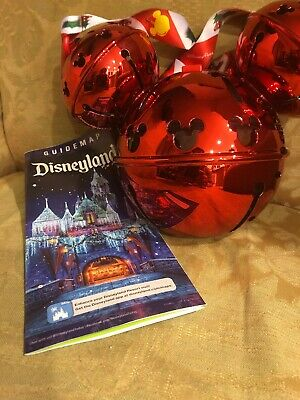 Disney Parks 2019 Christmas Mickey Ornament Jingle Bells Candy Cane Sipper
