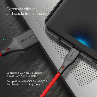 BlitzWolf USB Type C Cable Fast Charger Data Cable Cord For Samsung S9 S8