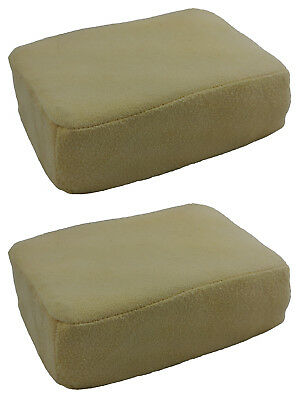 2 (Two) x LARGE Chamois Leather Sponge Pad For Demisting Car Windows