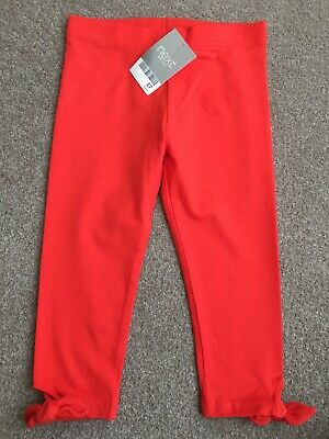 Next Girls Cropped Leggings Age 6. Red. New With Tags