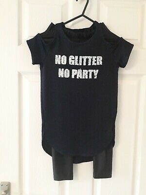 Girls Age 7 Yrs 2 Piece Outfit, No Glitter No Party  Used