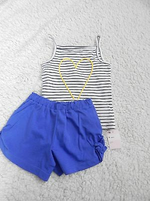 BNWT Girls Summer Shorts Set In Age 4 Years Great Buy