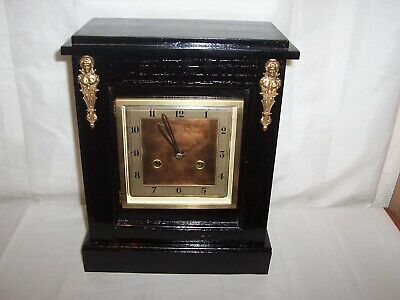 English Anvil Time And Strike Mantel/Bracket Clock. Cleaned And Oiled.