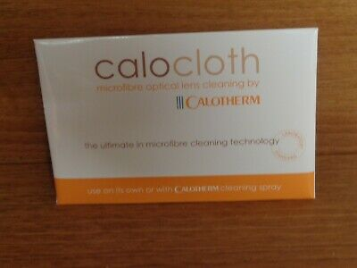 "1 X CALOTHERM MICROFIBRE OPTICAL LENS CLEANING CLOTH - SIZE  8"" x 6"""
