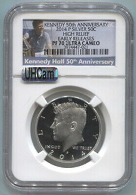 2014 P Silver Kennedy half dollar 50th Anniversary set NGC PF 70 Ultra Cameo