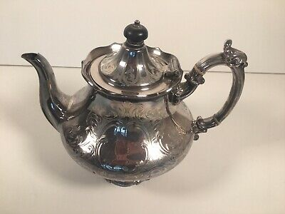 Electroplated Silver Plated Kettle Vintage Antique