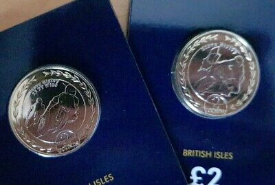 Isle of Man 2019 🇮🇲Steve Hislop TT Two Pounds £2 Coin Set - Uncirculated