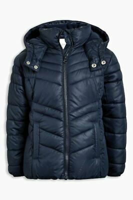 Next Older Girls Navy Blue Hooded Padded Jacket Coat - Age 12 Years