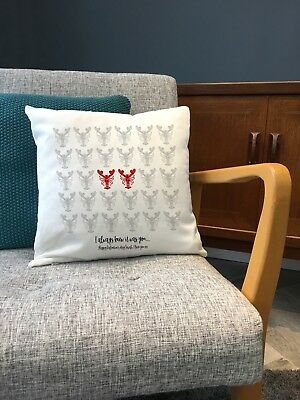 Lobster Friends Cushion Wedding Anniversary Wedding Gift Personalised Pillow