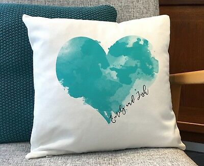Romantic Valentine's Heart Gift for Couple Wedding 2nd Anniversary Cushion