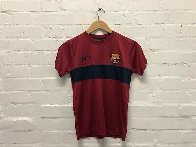 FC Barcelona Official Kid's Club Poly T-Shirt - 10-11 Years - Claret - New