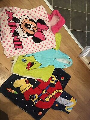 3 X Childrens Hooded Towels