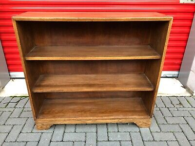 Antique shelving unit bookcase Solid wood (oak?) Bookshelf book case London E4
