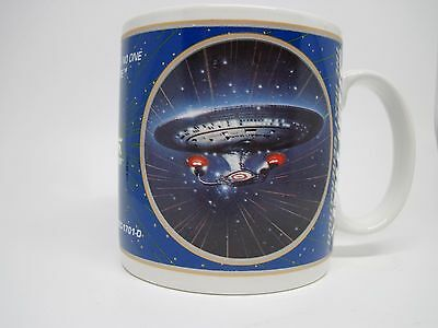 Star Trek USS Enterprise Next Generation TNG Enesco Coffee Mugs