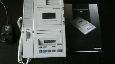 PHILIPS 560 office dictation machine GWO VGC With instruction book