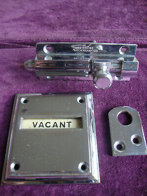 Antique vintage Gibbons of wolverhampton chrome vacant engaged WC lock