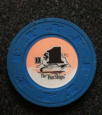 Carnival Cruise Lines - The 'Fun Ships' $1.00 Casino Chip - Fast Shipping !!