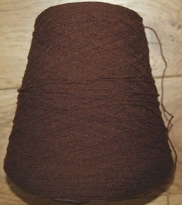 machine knitting brown acrylic yarn,cone 15.9 oz. new