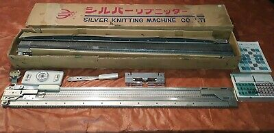 Vintage Silver Knitting Machine In Box SK-303 SR-303