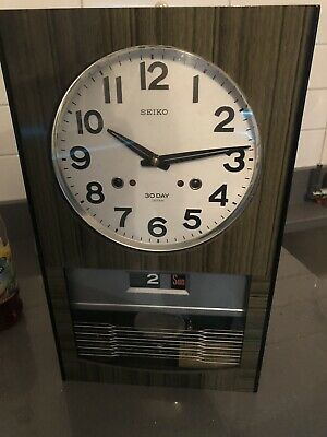 Vintage Seiko 30 Day Pendulum Wall Clock w/ Day & Date - Made in Japan
