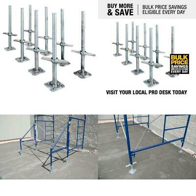 8 Pack Scaffolding Level Jack Adjustable Steel Screw Jack With Base Plate 24 In.